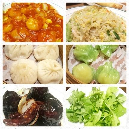 夕食に食べた中華料理