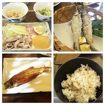 鮎料理の数々