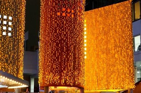 梅田スカイビルの2014年クリスマスイルミネーション1