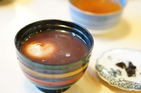圓徳院近くの喫茶店で食べたぜんざい