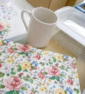ポーセラーツ用の白マグカップと転写紙