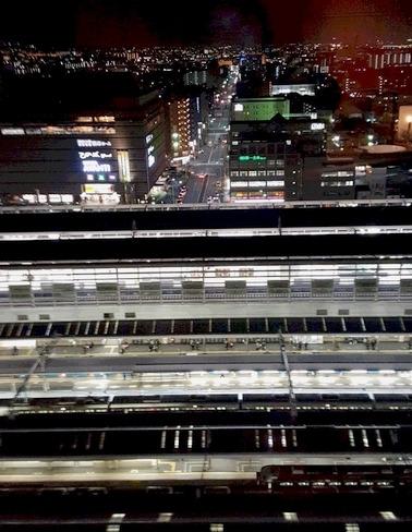 京都駅の夜景