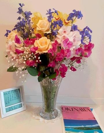 玄関に飾っているお花
