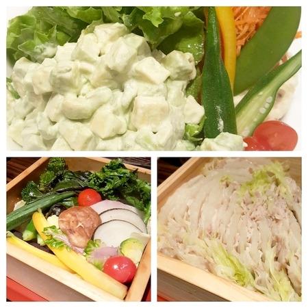 野菜三昧の夕食