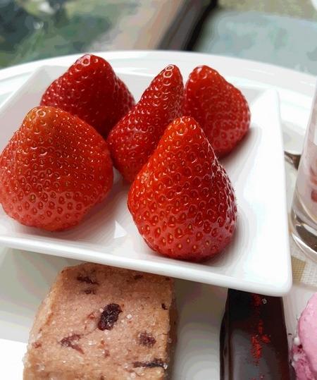 苺のビュッフェの大粒いちご