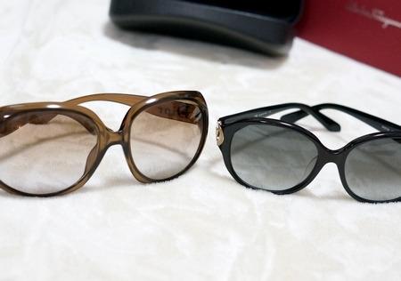 ディオールのサングラス・グロッシーとフェラガモのサングラス