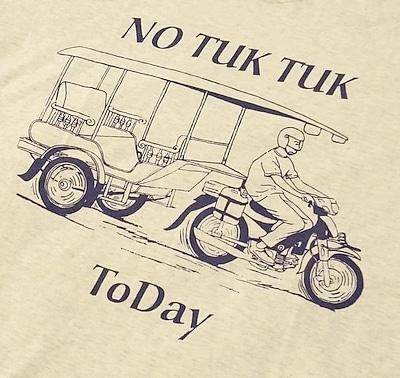 トゥクトゥクTシャツのイラスト
