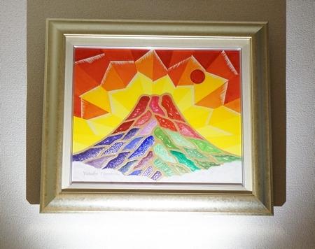 完成した富士山の絵