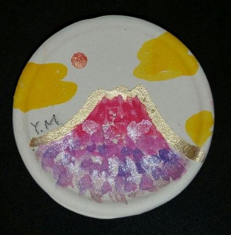 盃に描かれた開運富士山