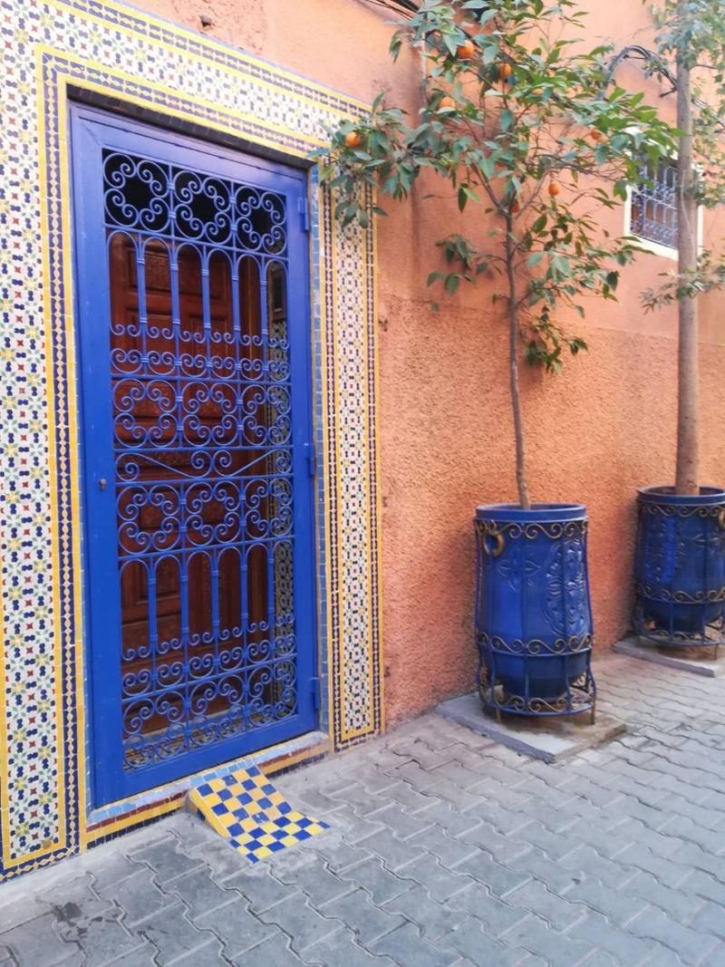 モロッコの民家の玄関