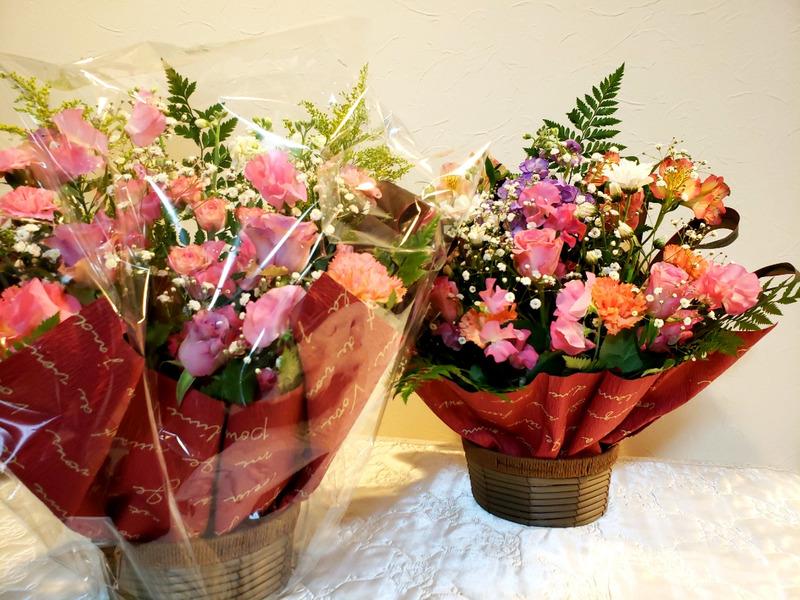 頂いた大きな花束