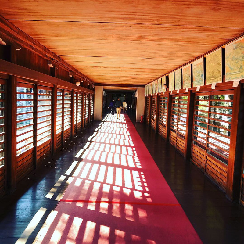 豊川稲荷のご祈祷渡り廊下