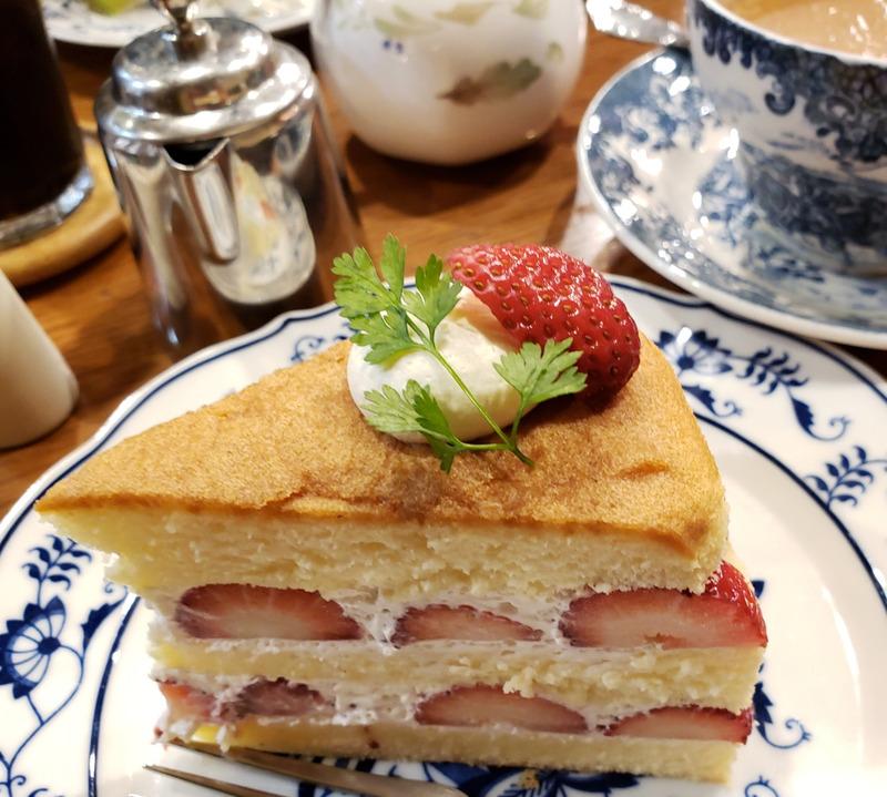喫茶店のイチゴショートケーキ