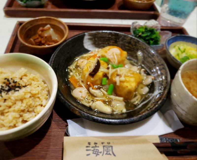 海風の玄米ご飯定食