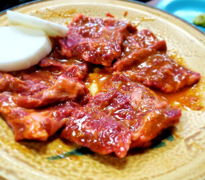 焼肉屋さんの味噌ダレカルビ