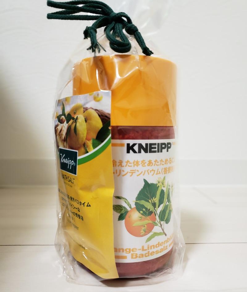 クナイプバスソルトのオレンジリンデンバウム