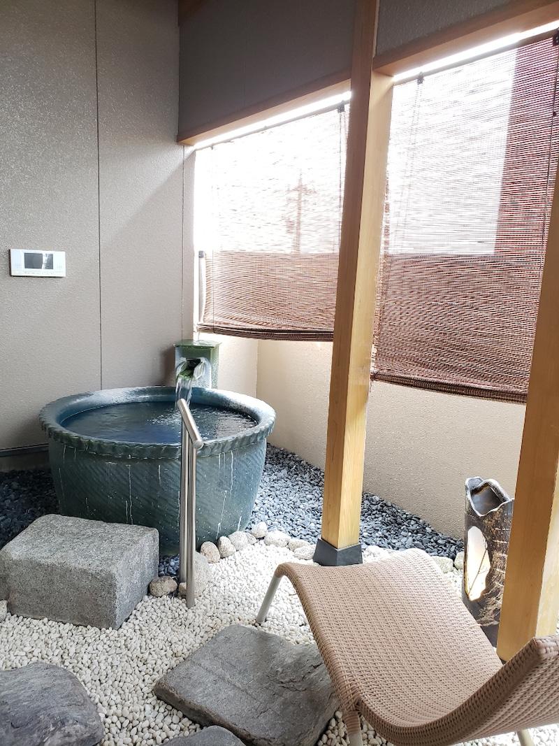 福井県あわら温泉の部屋付き露天風呂
