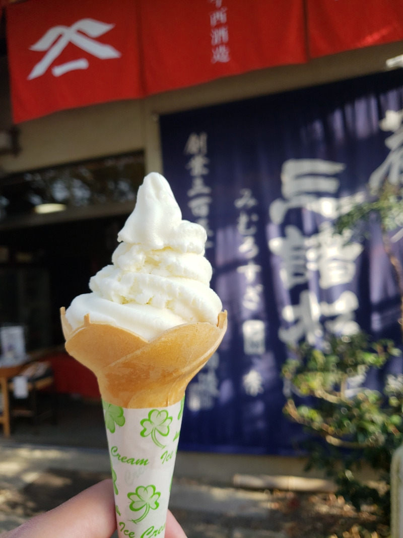 酒粕のソフトクリーム