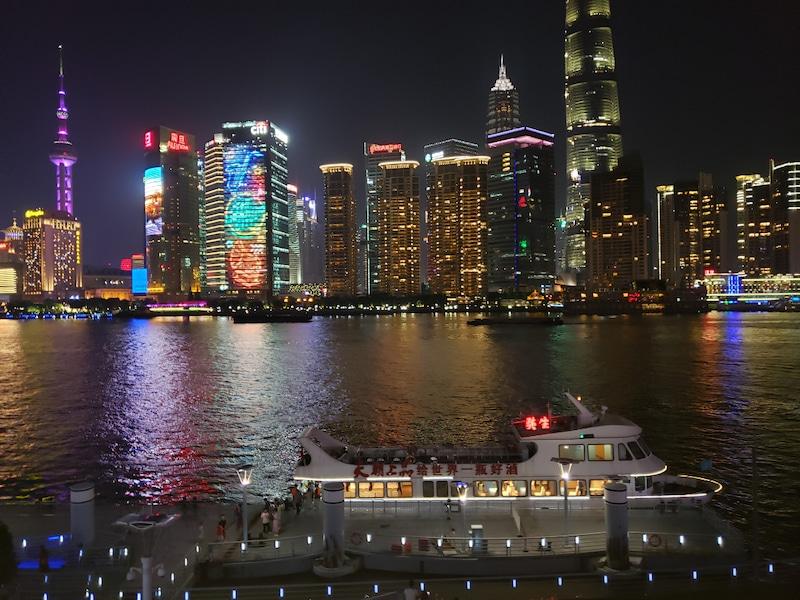 対岸の上海の夜景