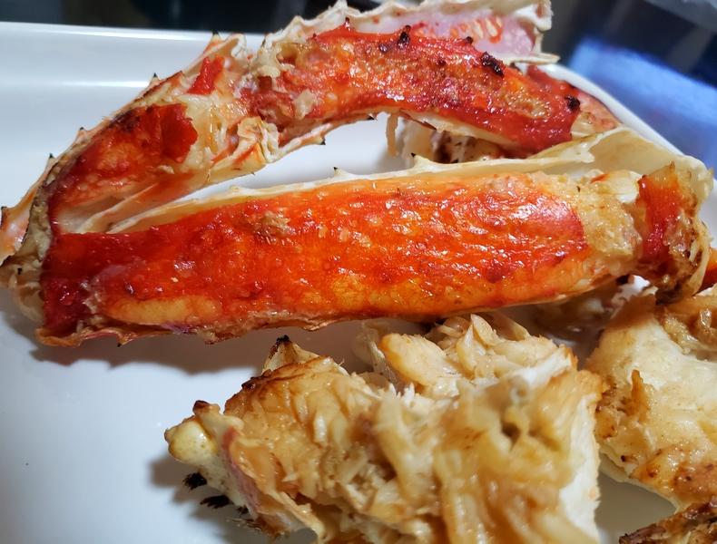 コストコタラバ蟹のバター焼き