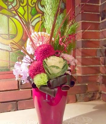 年末年始用のお花