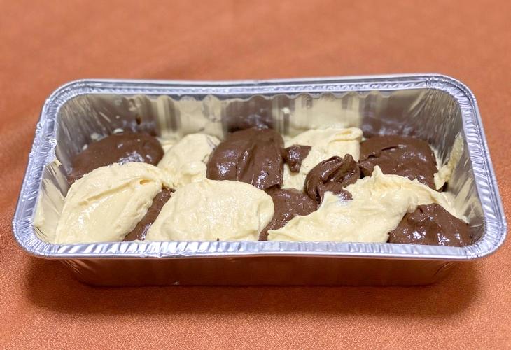 マーブルパウンドケーキの生地