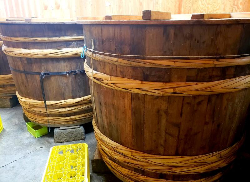 お酢の木桶
